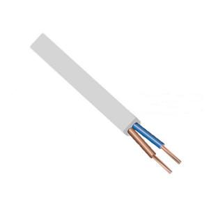 Kabel H03VVH2-F 2X0,75 bílá (plochý)