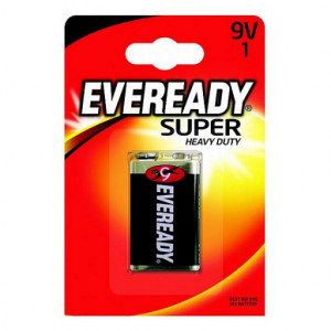 Baterie Eveready Zinc (shrink) 9V 6F22 blistr