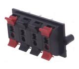 Svorka reproduktorový do panelu, šroubovací 58mm THT svorky:8