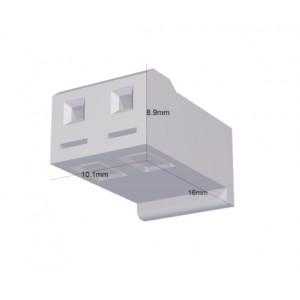 Zástrčka kabel-pl.spoj zásuvka PIN:2 bez kontaktů 5,08mm