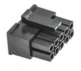 Zástrčka kabel-pl.spoj zásuvka 3mm 10 PIN bez kontaktů 5A
