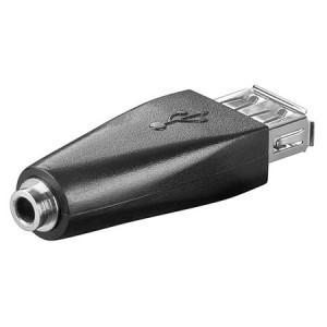 Adaptér USB 2.0 USB A zásuvka, Jack 3,5 mm 3 piny zásuvka