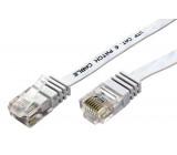 Patch cord U/UTP 6 licna Cu PVC bílá Dél.kabelu:10m