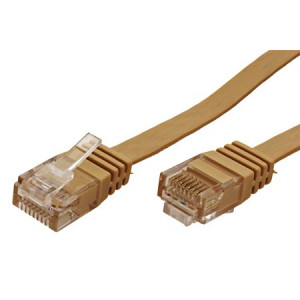 Patch cord U/UTP 6 licna Cu PVC světle hnědá Dél.kabelu:10m