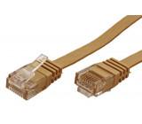 Patch cord U/UTP 6 licna Cu PVC světle hnědá Dél: 20m 32AWG