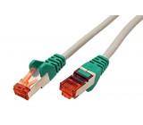 Síťový kabel S/FTP 6 křížený licna Cu LSZH šedá 0,5m