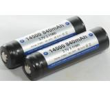 Akumulátor - baterie Li-Ion 14500,AA 3,7V 800mAh Ø14x49,5mm