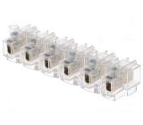 Svorkovnice póly:6 0,75÷4mm2 šroubová svorka 16A 400V