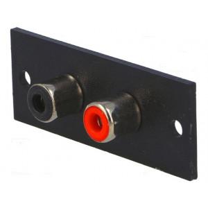 Zásuvka RCA zásuvka do panelu Počet konektorů:2 W:52mm