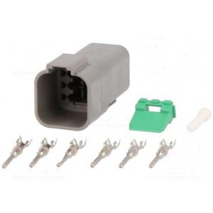 Konektor vodič-vodič DT zástrčka vidlice PIN:6 13A na kabel