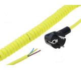 Vodič: kroucený ÖLFLEX® SPIRAL 540 P 3G2,5mm2 PUR žlutá 0,35m