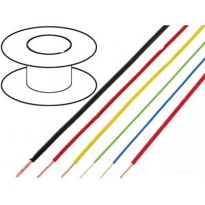 Kabel FLRY licna CU 1mm2 PVC černá 60V