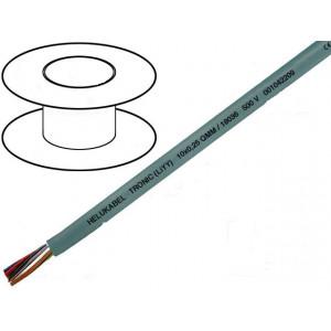 Kabel LiYY licna CU 2x0,75mm2 PVC šedá 500V LIYCY, LIYY
