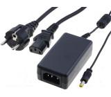 Zdroj spínaný 18V 1,66A 30W konektor 5,5/2,1mm kabel 1,8m 0-40°C