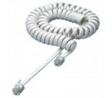 Kabel telefonní kroucený s propletením 1m slonovina