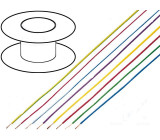 Kabel LiYv licna Cu 0,14mm2 PVC hnědá 500V