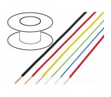 Kabel FLRY licna CU 0,35mm2 PVC červená 60V