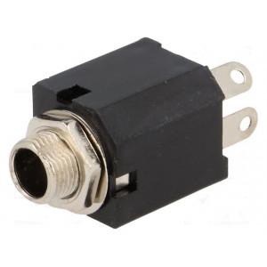 Zásuvka Jack 6,3 mm mono, s vypínačem, rozpínací kontakty 10mm