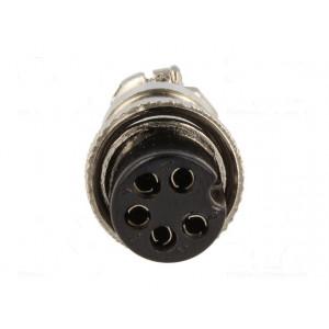 Vidlice mikrofonní na kabel 5 pinů (samice)