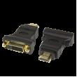 Adaptér DVI-D (24+1) zásuvka, HDMI vidlice černá