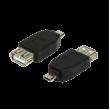 Adaptér USB 2.0 USB A zásuvka, USB B micro vidlice