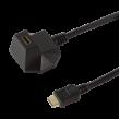 Extender HDMI HDMI zásuvka, HDMI vidlice černá