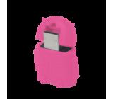 Kabel USB 2.0 USB A zásuvka, USB B micro vidlice růžová