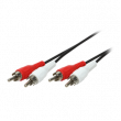 Kabel RCA vidlice x2,z obou stran 2,5m Barva: černá