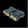 Adaptér D-Sub 15pin HD zásuvka, DVI-I (24+5) vidlice černá