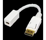 Adaptér DisplayPort vidlice, mini DisplayPort zásuvka bílá