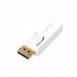 Kabel DisplayPort vidlice, HDMI zásuvka bilá