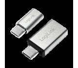 Adaptér USB 2.0,USB 3.0,USB 3.1 Mat.těl: hliník