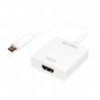 Adaptér HDCP 1.3,HDMI 1.4,USB 3.1 HDMI zásuvka, USB C vidlice