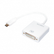 Adaptér HDCP 1.3,USB 3.1 DVI-I (24+5) zásuvka, USB C vidlice