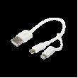 Kabel 150mm bílá