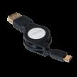 Kabel USB 3.0 USB A zásuvka, USB B micro vidlice 0,75m černá