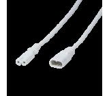 Kabel IEC C7 zásuvka, IEC C8 vidlice 2m Zásuvky:1 bílá