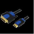 Kabel HDMI 1.3 DVI-D (18+1) vidlice, HDMI vidlice 2m