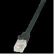 Patch kabel U/UTP 5e propojení 1:1 licna CCA PVC černá 0,5m