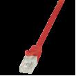 Patch cord U/UTP 5e licna CCA PVC červená 1,5m
