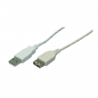 Kabel USB 2.0 USB A zásuvka, vidlice USB A easy niklovaný 3m