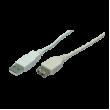Kabel USB 2.0 USB A zásuvka, vidlice USB A easy niklovaný