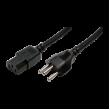 Kabel IEC C13 zásuvka, vidlice SEV-1011 (J) 1,8m černá 10A