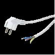 Kabel CEE 7/7 (E/F) úhlová vidlice, vodiče 1,5m bílá 10A 250V