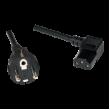 Kabel CEE 7/7 (E/F) vidlice, IEC C13 zásuvka 90° 3m černá 10A