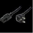 Kabel CEE 7/7 (E/F) úhlová vidlice, IEC C13 zásuvka 1,8m 10A