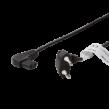 Kabel CEE 7/16 (C) úhlová vidlice, IEC C7 úhlová zásuvka 2,5A