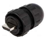 Konektor HDMI zástrčka pájení přímý na kabel IP67,IP68