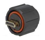 Konektor HDMI zástrčka pájení přímý na kabel IPX7