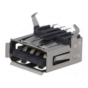 Zásuvka USB A SMT vodorovné